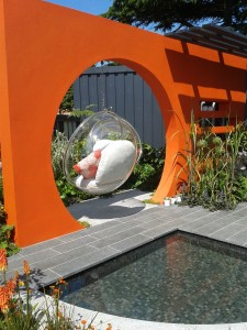 Fantastic garden at Hampton Court flower show 2013