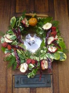 Christmas wreath Apples & Chillies