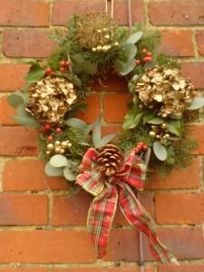 Gold Hydrangea Wreath