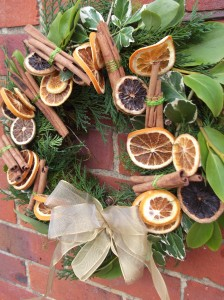 Orange Slices & Cinnamon Stick Christmas Wreath