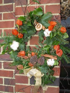 Physallis Wreath